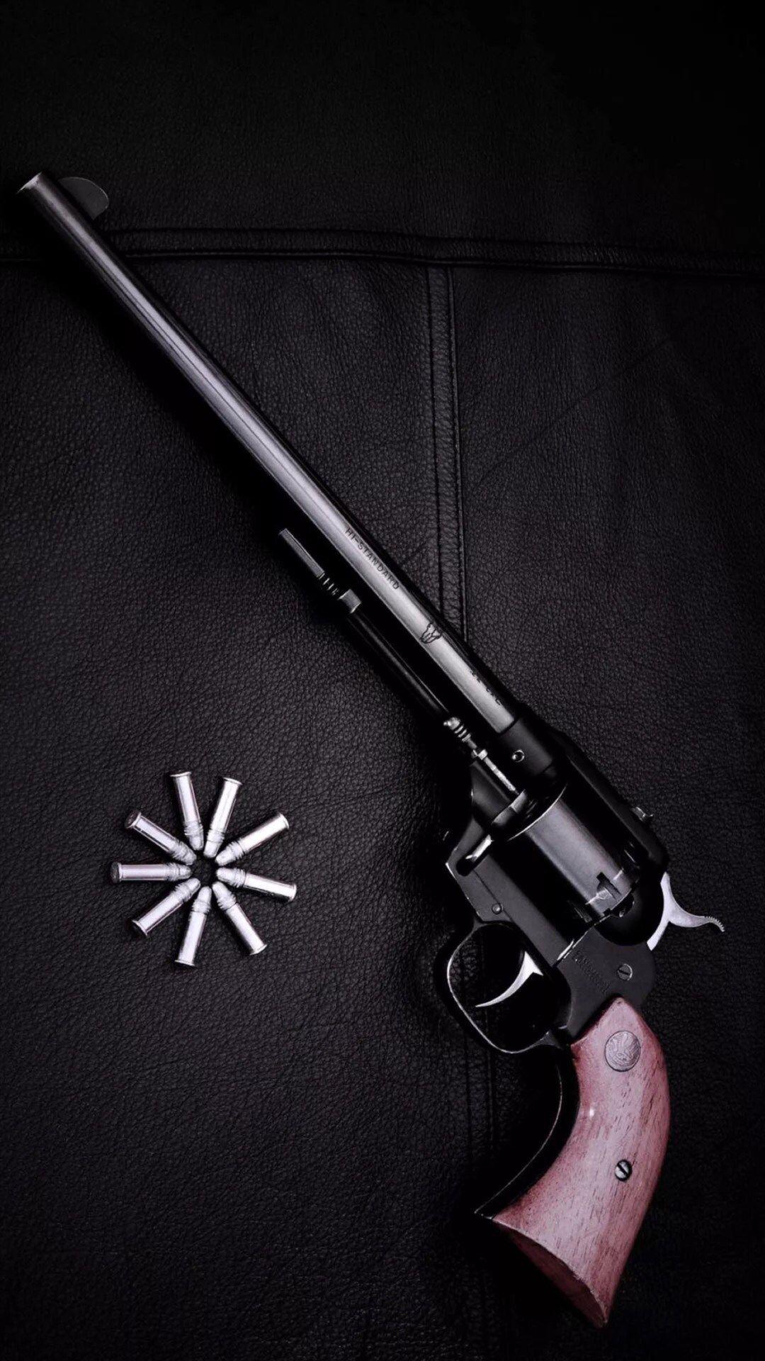 Revolver Gun Dark Background IPhone 6 Wallpaper