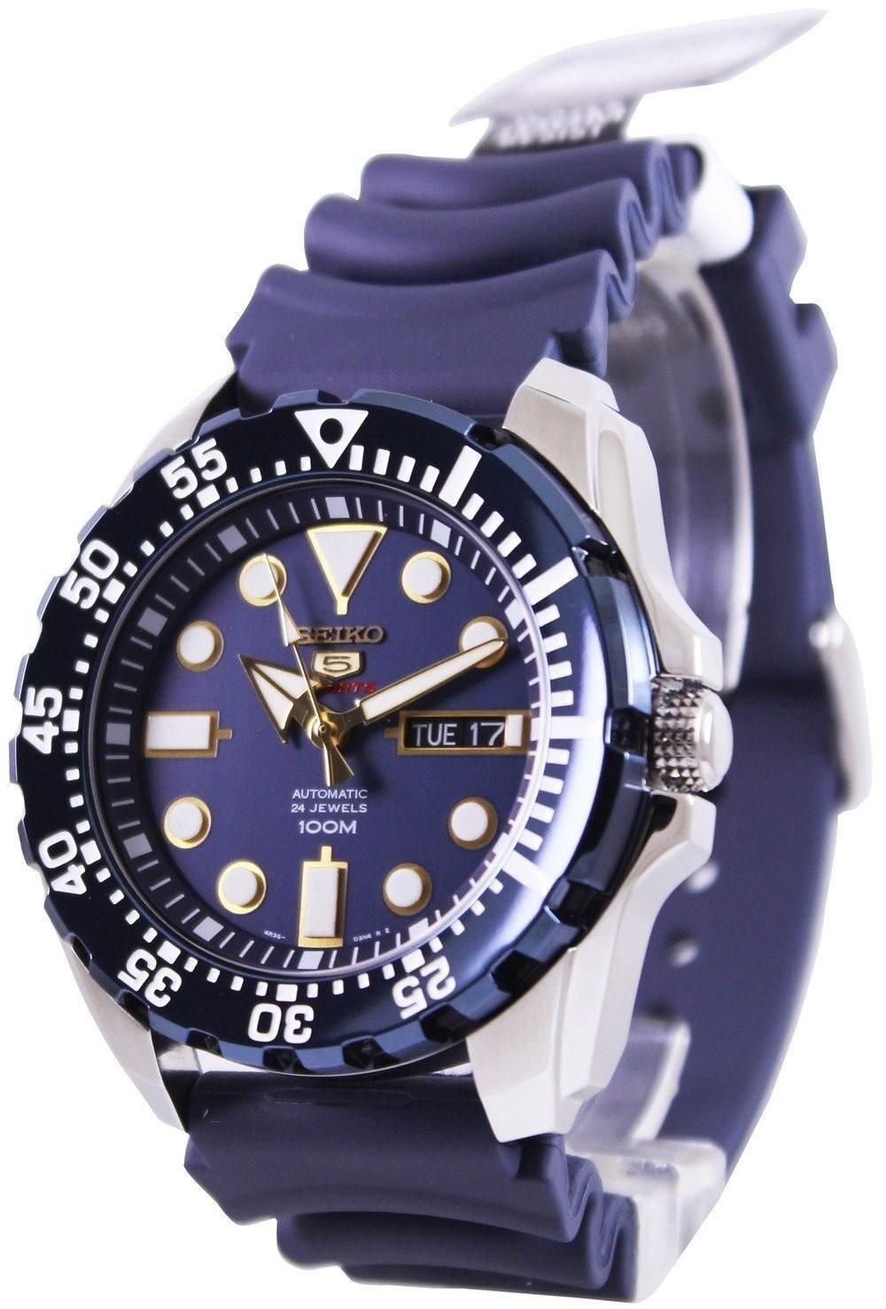 Seiko 5 Sports Automatic 24 Jewels SRP605K2 Mens Watch in
