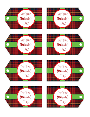picture about Free Printable Tags identify for your mistletoes\