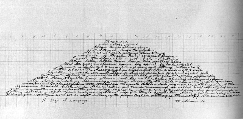 The Robert Smithson Piece A Heap Of Language Composed Of 152