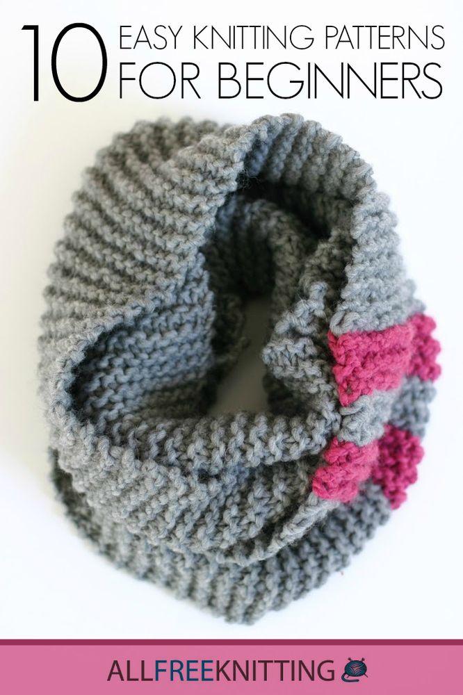 10 Easy Knitting Patterns for Beginners | AllFreeKnitting.com