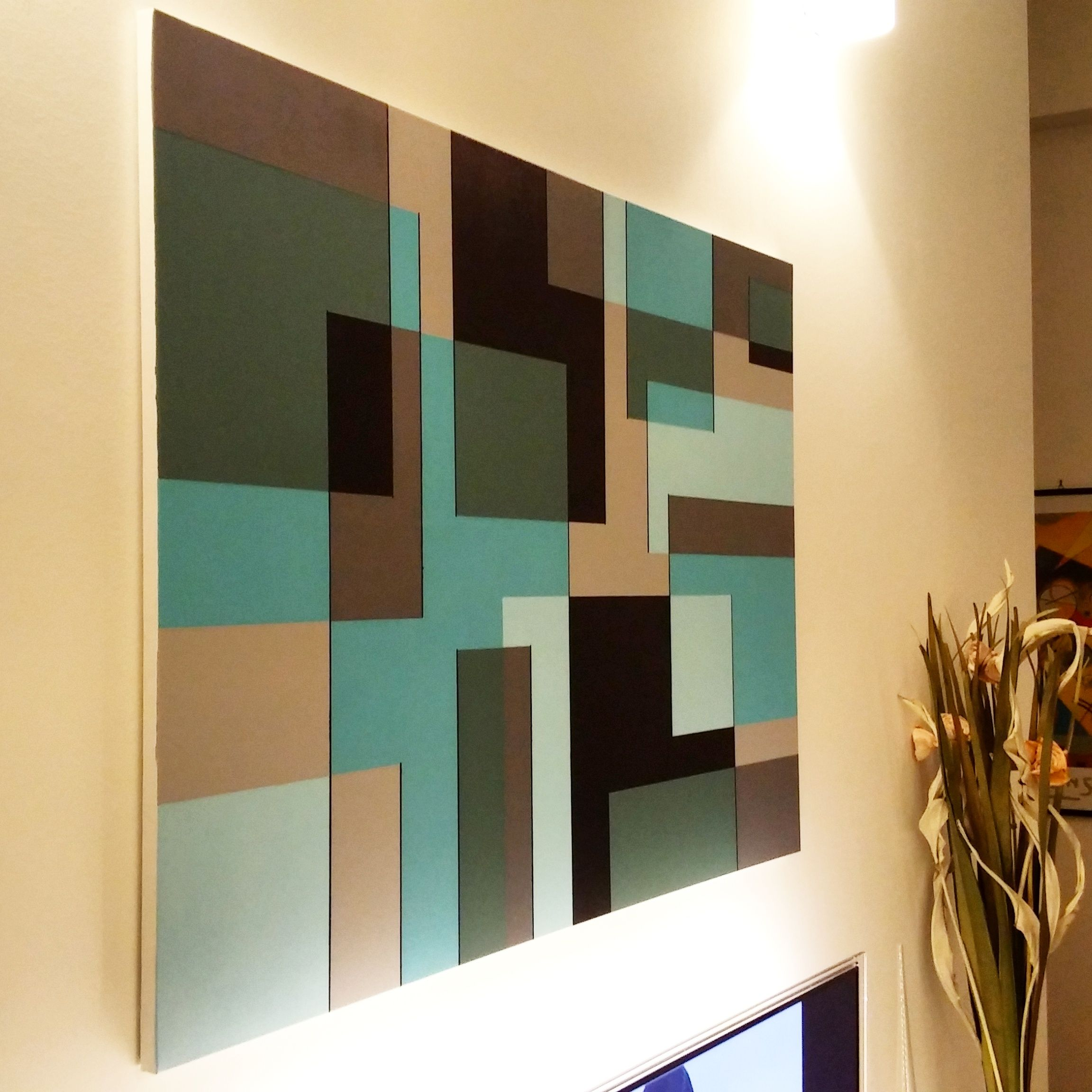 Sovrapposizione Di Colori   Pittura Geometrica   Acrilico Su Tela   Gaetano  Massaro   Palermo