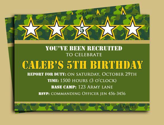 Camouflage Birthday Invitation