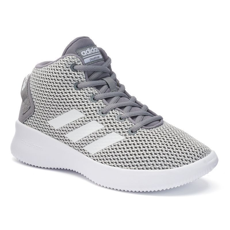 984c6650266 Adidas NEO Cloudfoam Refresh Mid Kids' Sneakers, Boy's, Size: 12, Light Grey