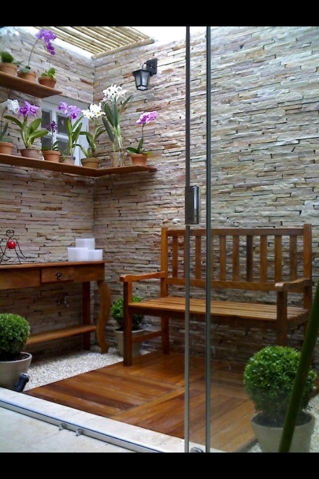 Decoraci n para paredes y espacios peque os deco jardin pinterest decoraci n de unas - Decoracion patios interiores pequenos ...
