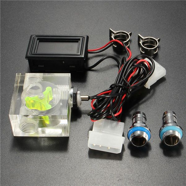 Us 14 92 Led Thermometer 3 Way Flow Meter For Water Liquid