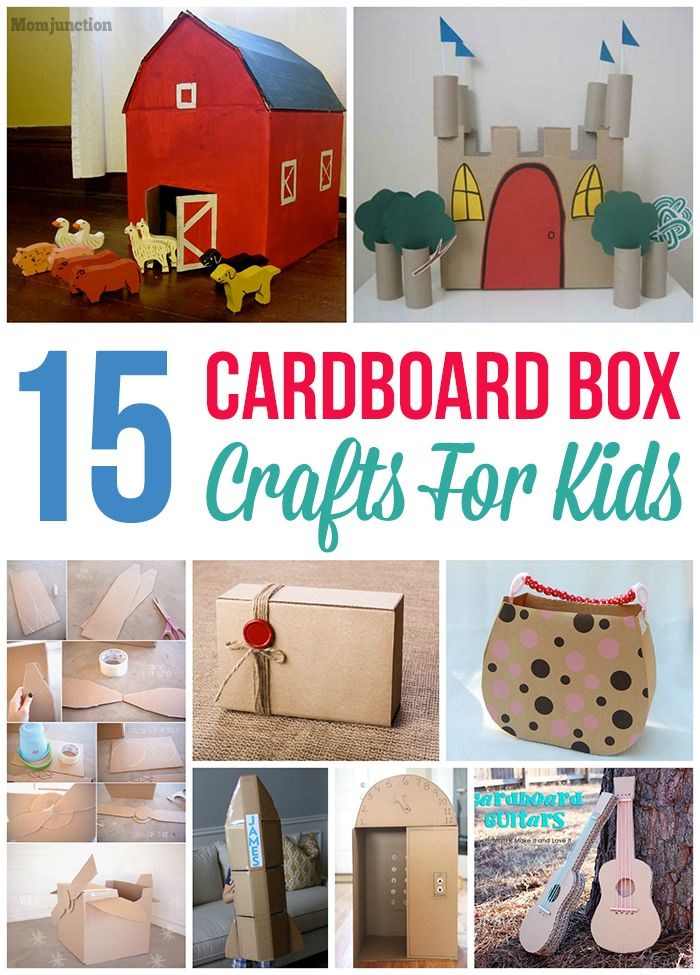 15 Fun Easy Cardboard Box Crafts For Kids Cardboard Boxes