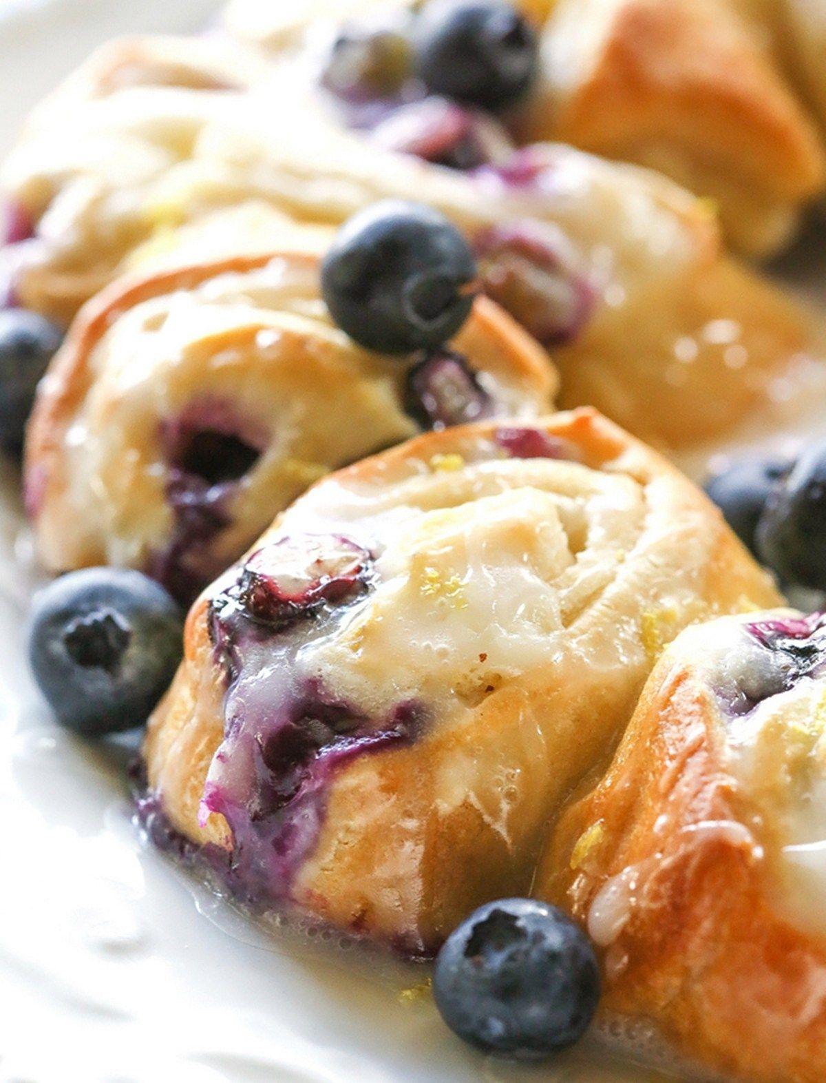 Blueberry lemon crescent ring blueberry recipes recipes