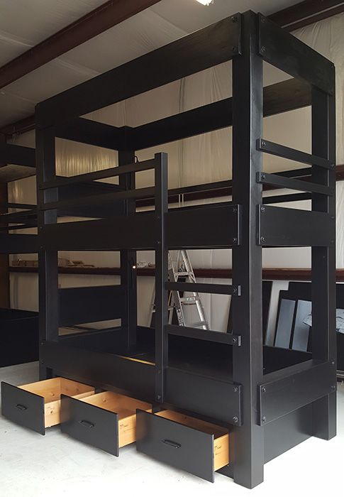 Custom Twin Xl Over Twin Xl Bunk Beds Bunk Bed Ideas In 2018