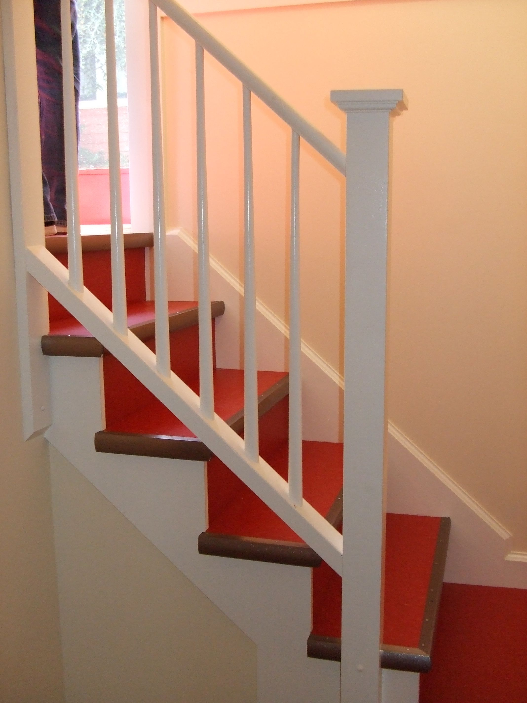 marmoleum on a stair with wood edge Youel Pinterest
