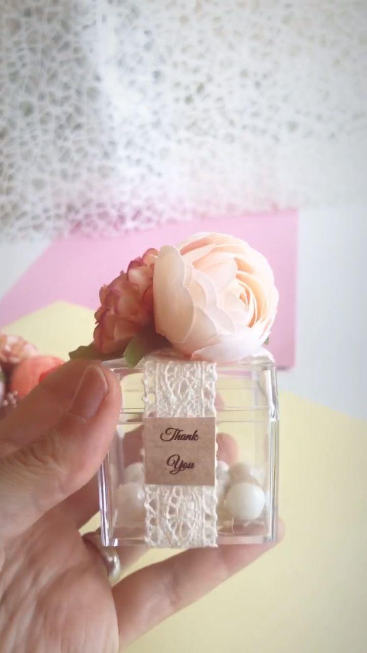 10pcs Wedding Favors for Guests, Blush Wedding, Candy Favor Boxes, Baby Shower Favors, Bridal Shower