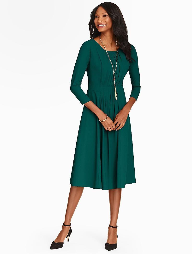Talbots - Ruched Crepe Dress   Dresses     Wedding Planning ...