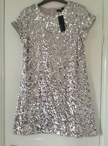 Girls-sequin-shift-dress-age-12-13-by-Autograph-Marks-Spencer