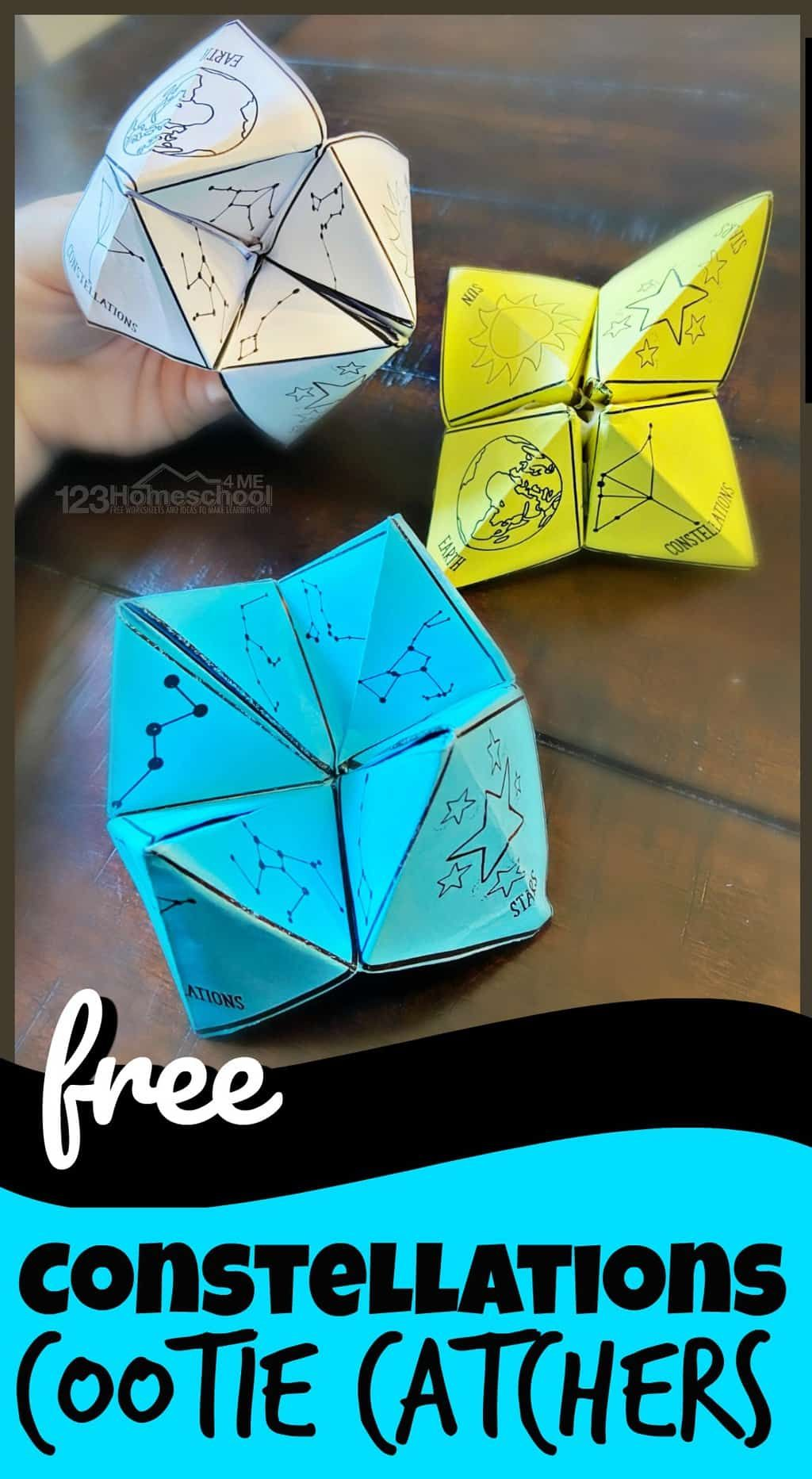 Photo of FREE Constellations Cootie Catcher Printable