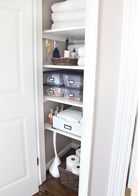 Narrow But Deep Closet Install A Bamboo Roll Out Cabinet