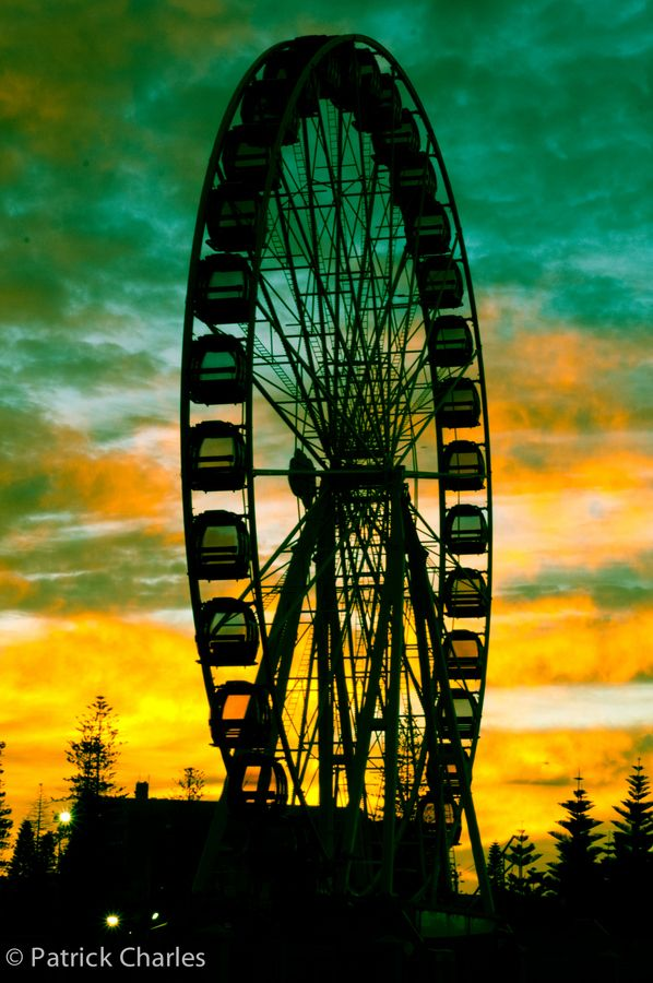 The sky wheel at dawn, Western Australia