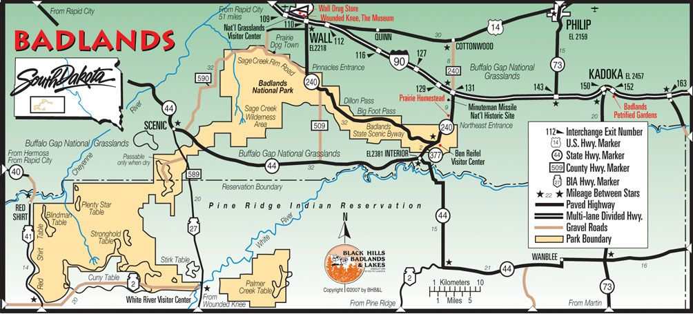 South Dakota  Badlands National Park  The Badlands are a