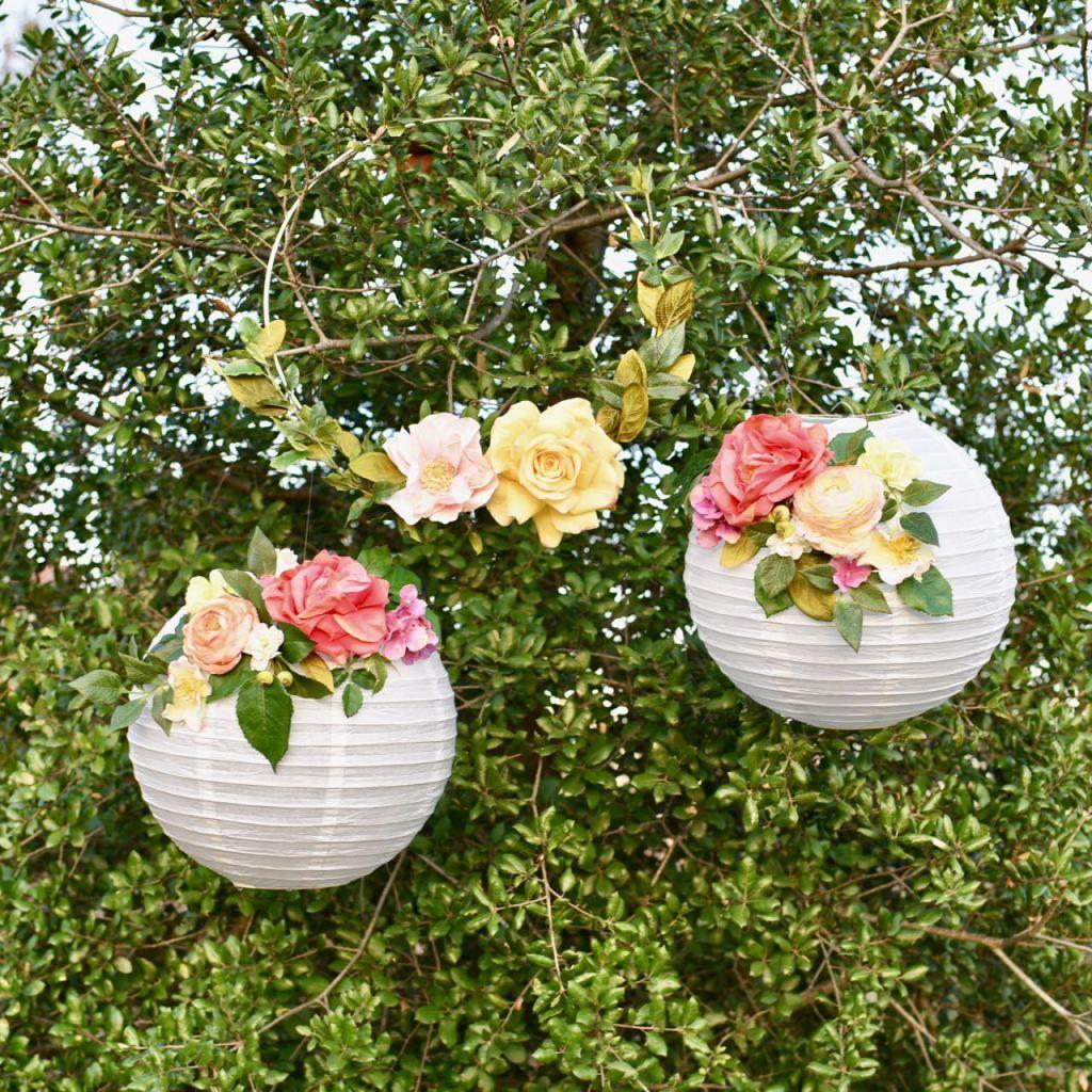 Diy flower paper lanterns tutorial flower paper diy flower and diy flower paper lanterns tutorial mightylinksfo