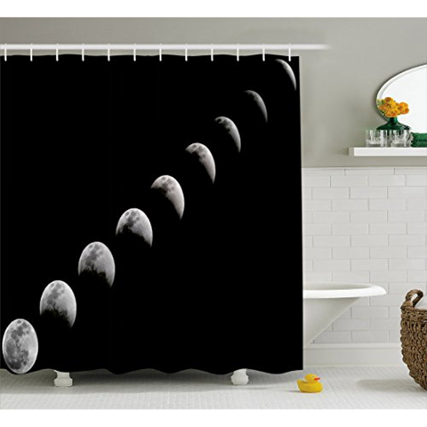 Moon Phases Shower Curtain By Lunarable A Lunar Eclipse Changing Phase Of The Moon Astronomy And Universe Theme Fabri Bathroom Decor Sets Bathroom Decor Bath