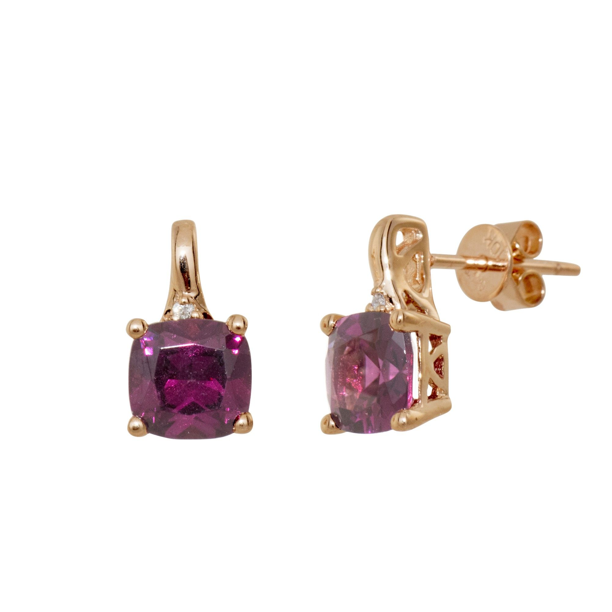 red shape diamond heart and pendant r itm rhodolite hs garnet white set rg earrings gold w ijm