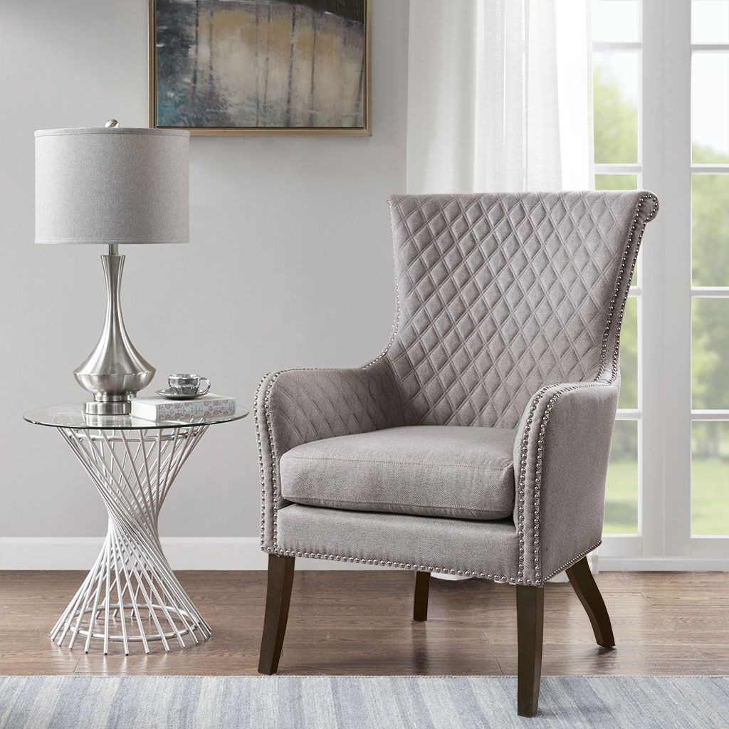 Heston Accent Chair By Madison Park Blue Accent Chairs Upholstered Accent Chairs Accent Chairs