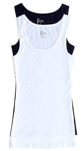 59c0c2ee583af2 Felina Womens 2-Pack Fine Ribbed Tank (Small