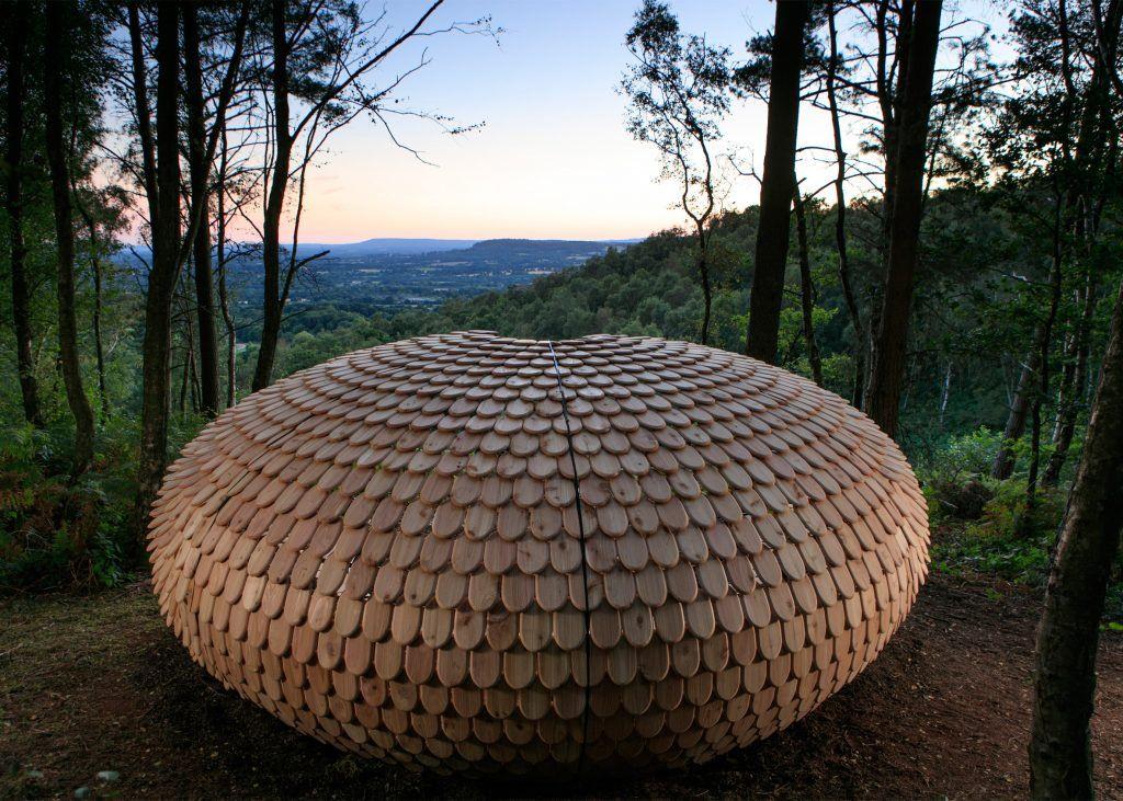 British designer Giles Miller impressed readers with this hilltop pavilion made…