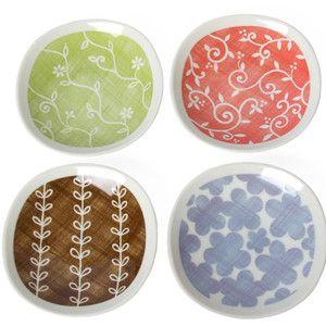 Wonderful Flora Assorted Plates (Set Of 4) By Miya  Who Doesnu0027t Love