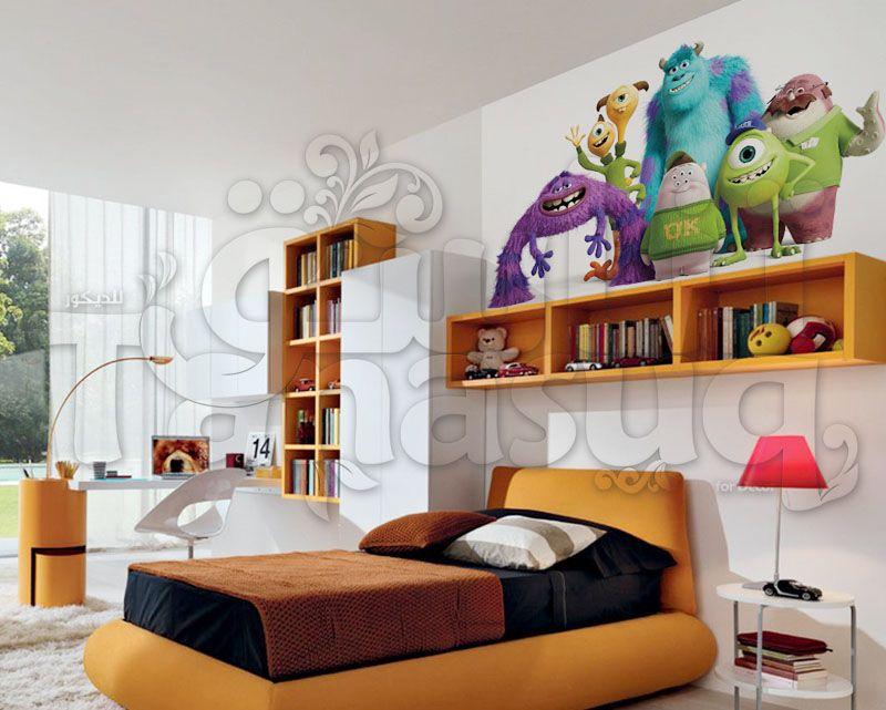 ورق جدران رسوم متحركة شركة المرعبين Corner Bookcase Home Decor Bookcase