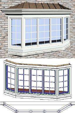 Bay Window Trim Exterior Andersen 30 C34 20 Casement Bay Window Rfa Facade House House Exterior Bay Window