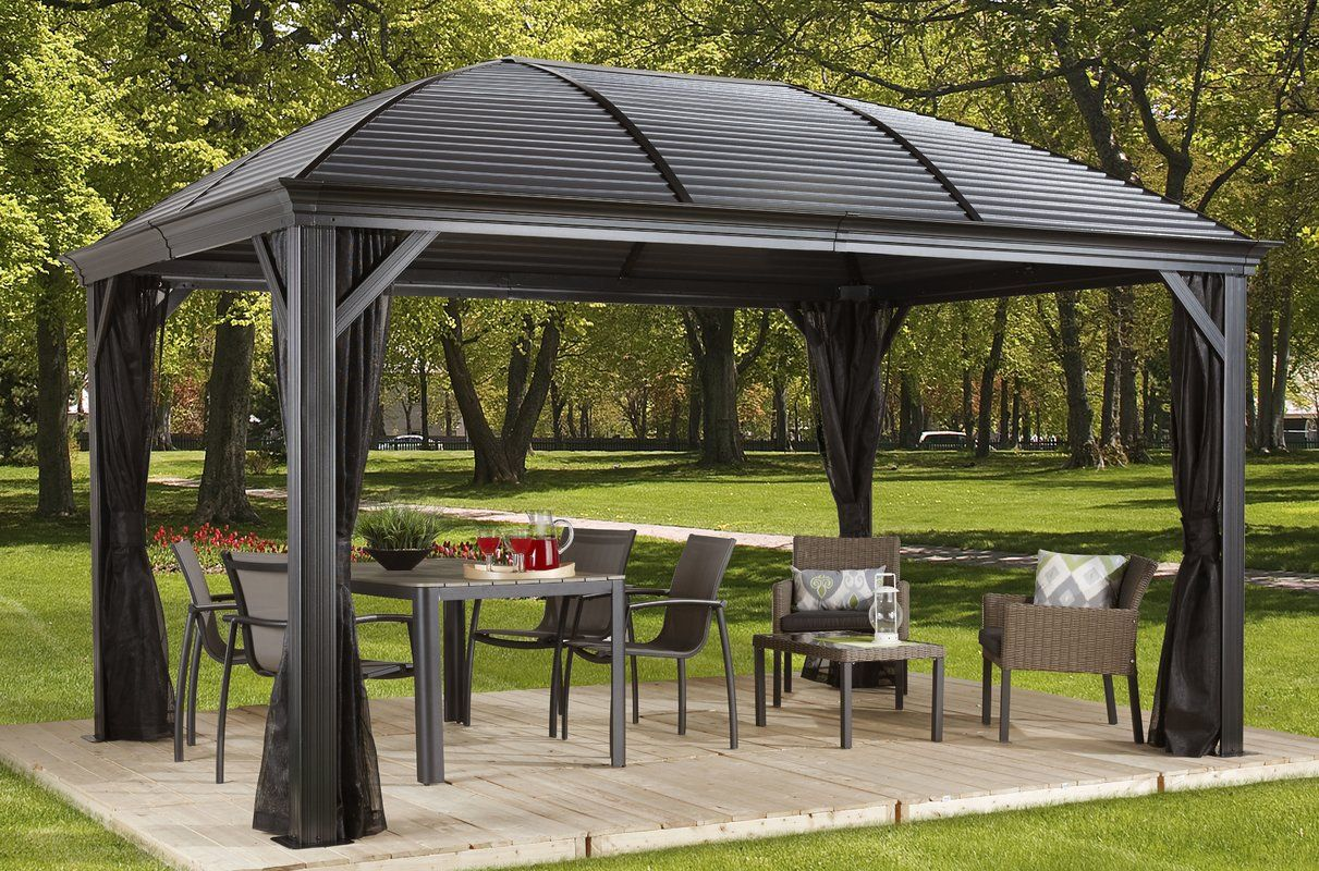 Moreno Aluminum Patio Gazebo Outdoor Pergola Modern Gazebo Patio Gazebo