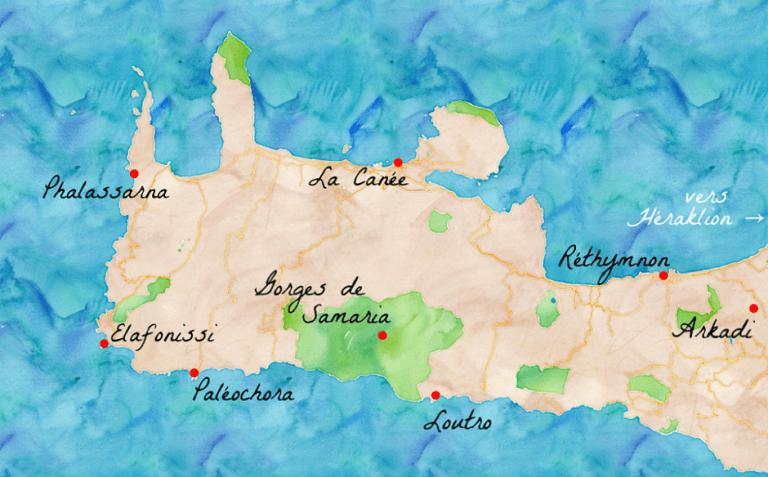 Carte Crete Gorges De Samaria.Decouvrir La Canee Et L Ouest De La Crete Carigami
