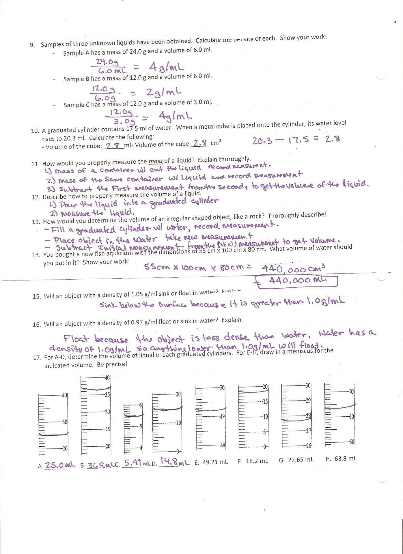 Prime Density Column Worksheet