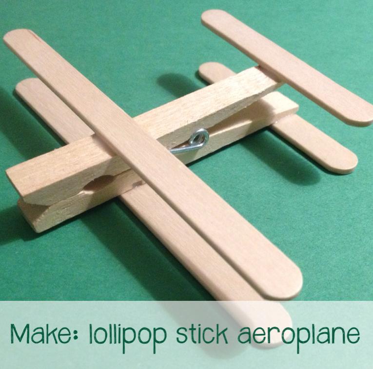 Ice Cream Stick Craft Aeroplane