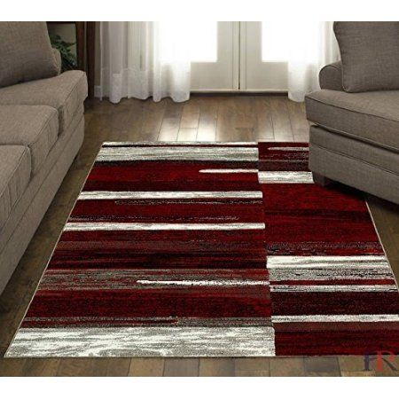 Hr Red Burgundy And Grey Abstract Modern Traditional Contemporary Mixed Colors Patterns Design Area Rug Carpet Walmart Com Burgundy Living Room Buying Carpet Patterned Carpet