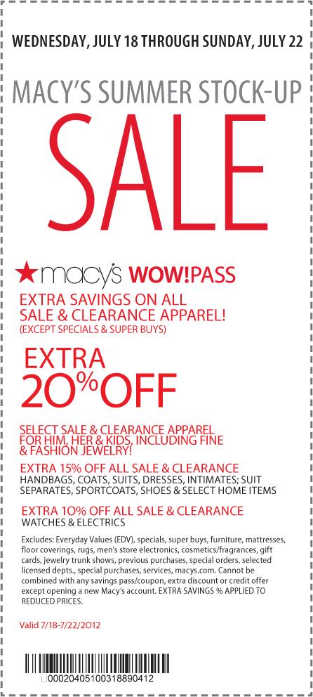 Extra 20 Off Clearance And Sale Apparel At Macys Coupon Via The Coupons App Macys Coupons Printable Coupons Macys Coupon