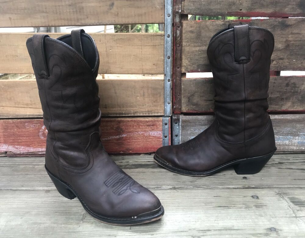 59ff331bc08 DURANGO #RD542 Brown Leather Slouch Cowboy Boots Women's 6.5M ...