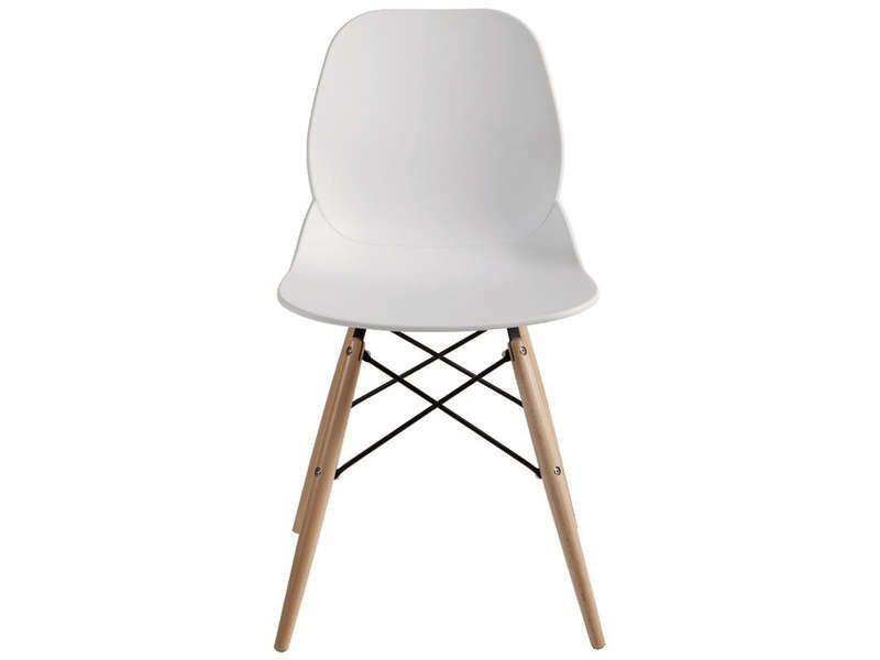 Chaise ORCA coloris blanc - Vente de Chaise de cuisine - Conforama - conforama chaises salle a manger