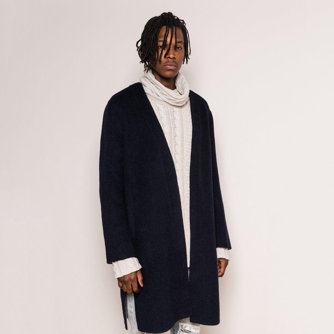 b940292875 Kith Becker - Wool Coat - Navy - $295.00 | Men's Coats & Jackets ...