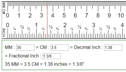 Convert Mm To Inch Cm To Inch Inch To Cm Inch To Mm Cm To Inches Conversion Ruler Measurements Metric Conversion Chart