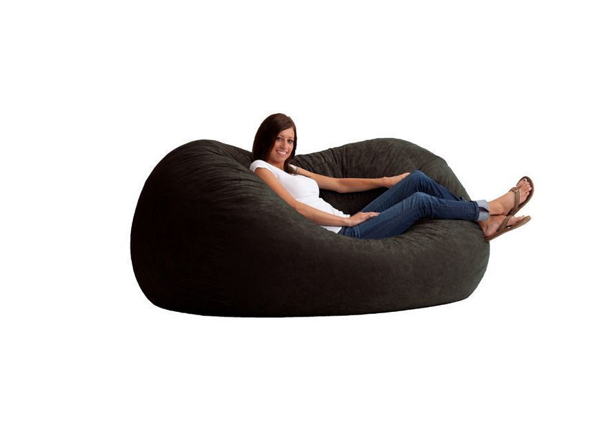 Astounding Bean Bag Chair Sofa Large Black Foam Suede Relax College Dailytribune Chair Design For Home Dailytribuneorg