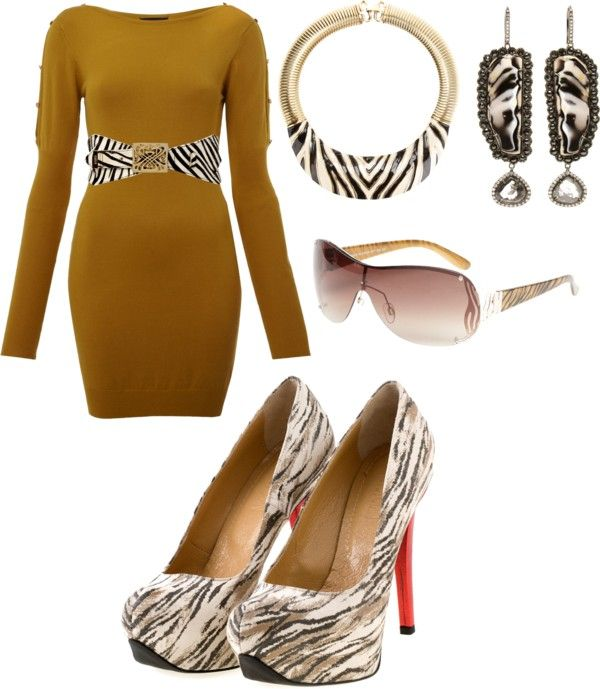 """brown zebra"" by joanna-gir-hann on Polyvore"