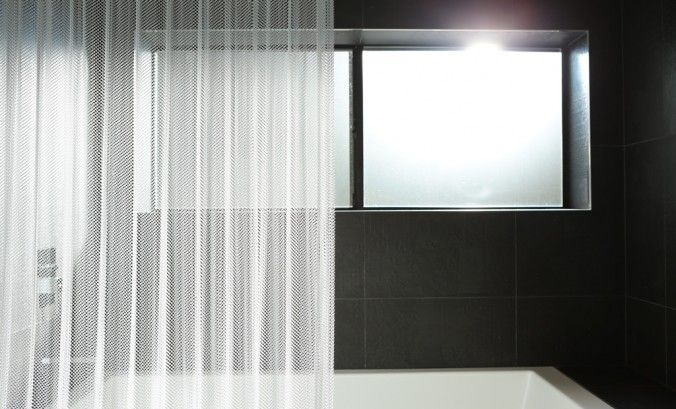 Shower Curtain Brite Pearl Gray Finish