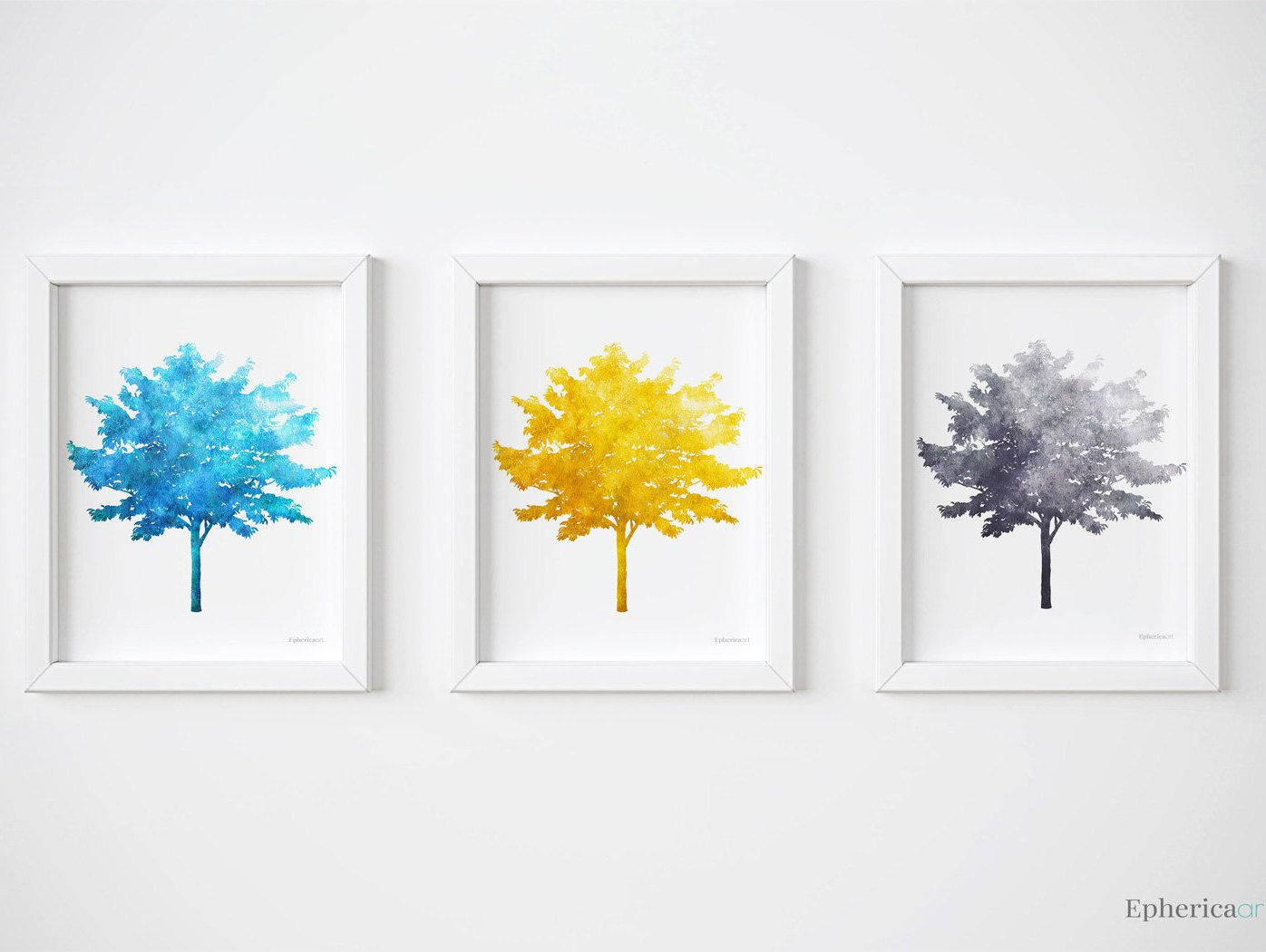 Triptych Wall Art Modern Printable Tree Prints Collection