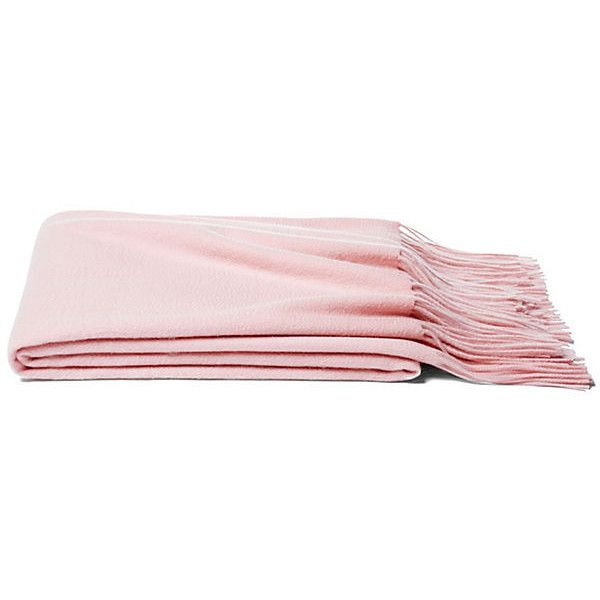 Solid Cashmere Throw Pink Blush Throws 40 Liked On Polyvore Simple Blush Pink Throw Blanket