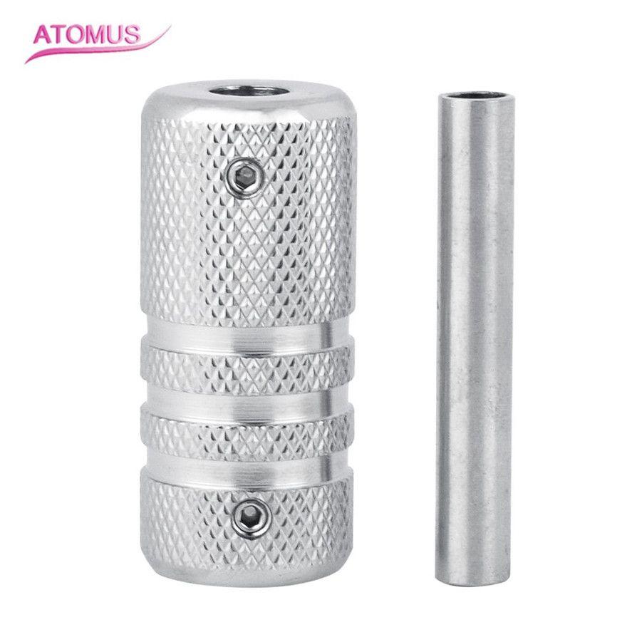 New Atomus 1pc Professional Portable Aluminum Alloy Tattoo Machine Grip Lock High Quality Handle Design
