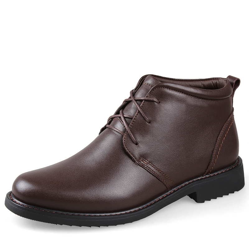 58.89$  Watch now - http://ali3fl.worldwells.pw/go.php?t=32740402021 - Genuine Leather warm waterproof men boots,Top quality ankle boots men snow boots,Super soft autumn and winter boots