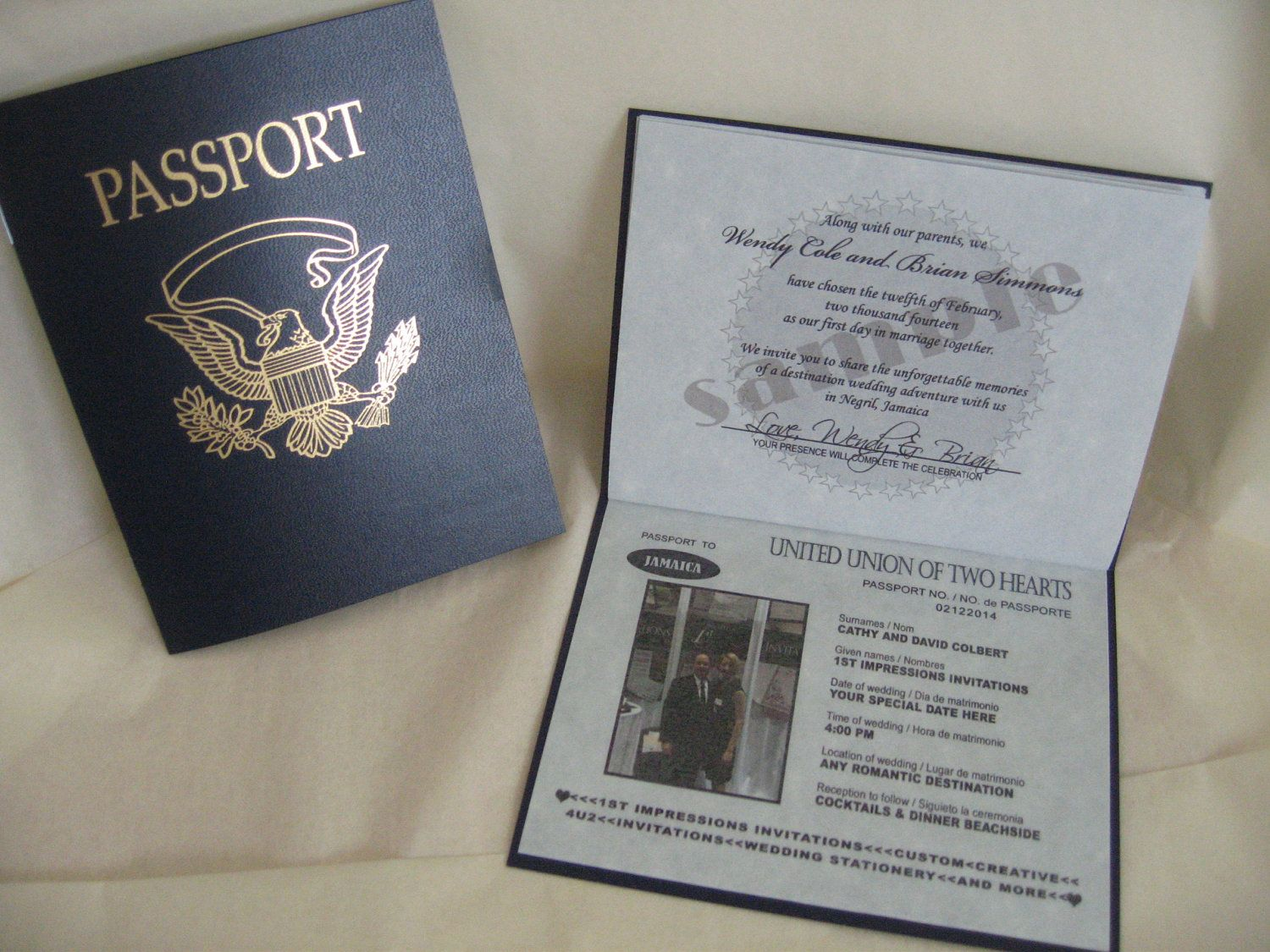 passport wedding invitations uk | New Create | Pinterest | Passport ...