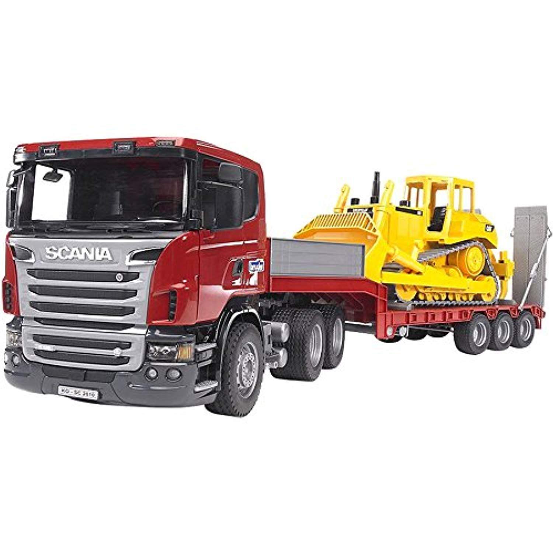 Der Spielzeugtester Hat Das Bruder 03555 Scania R Serie Lkw Mit Tieflader Und Cat Bulldozer Angeschaut Und Empfiehlt Es Bruder Spielzeug Bruder Scania Bruder