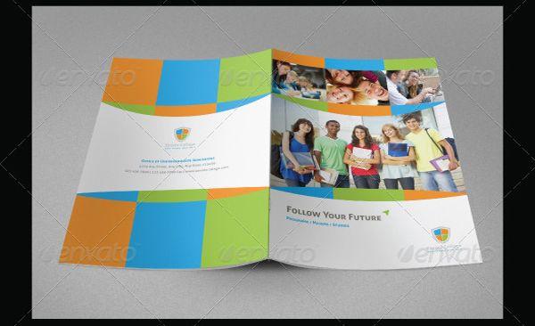 Brosur Sekolah  Education Brochure Template  Contoh Brosur